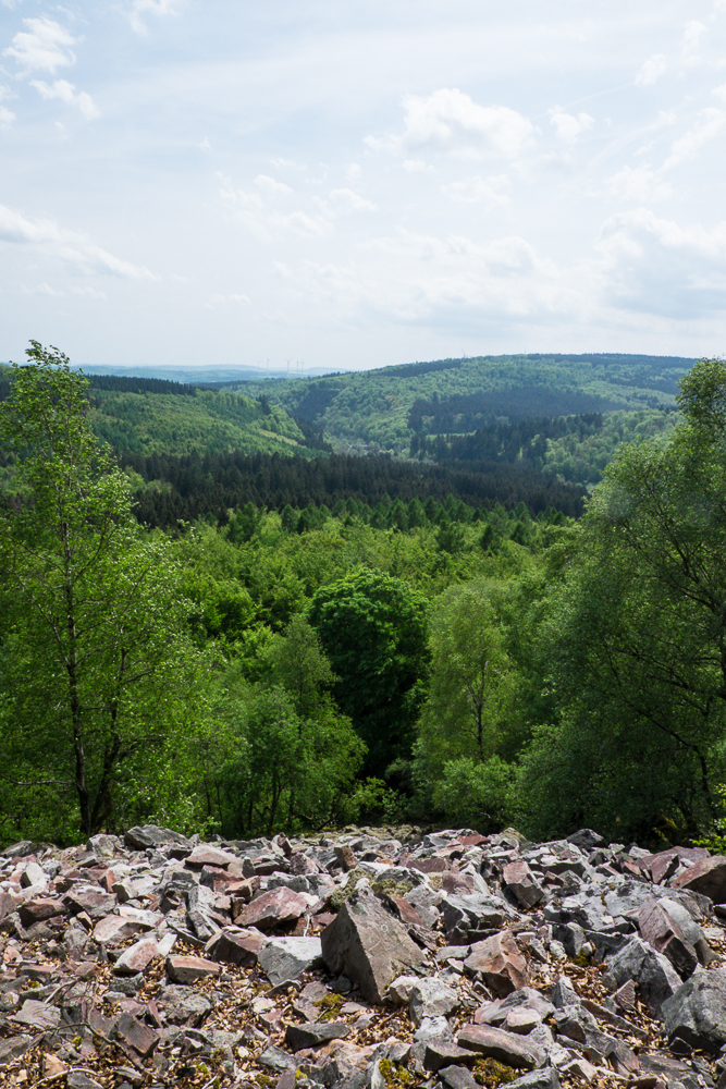 Hunsrück - Blick vom Vorkastell über das Trauntal