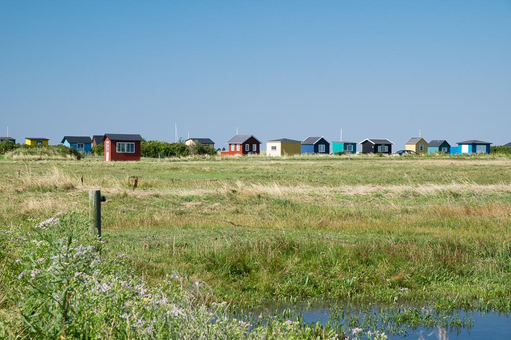 Insel Ærø - Strandhäuser am Vesterstrand in der Revi-Krog in Ærøskøbing