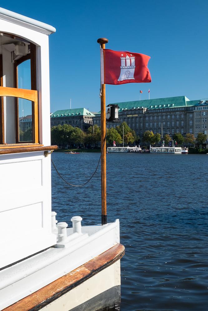 """Hamburg - Anleger am Jungfernstieg, Alsterdampfer """"St. Gerorg"""""""