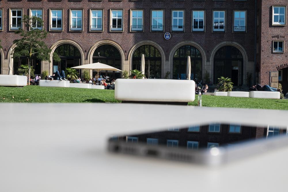 Hamburg - Mit Smartphone und 100 Sachen App unterwegs in Hamburg