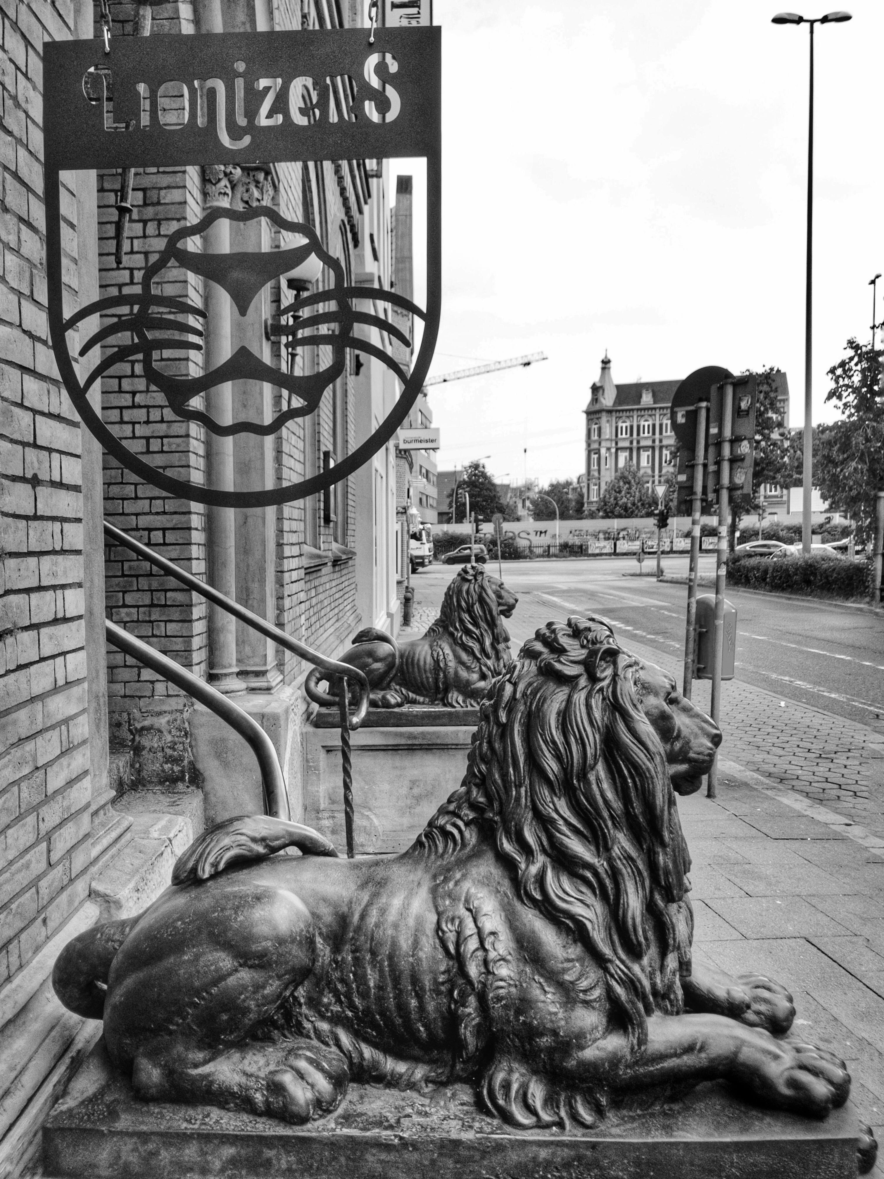 Lionizers Löwenportal in Harburg
